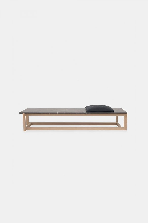 Marble Coffee Table in solid oak