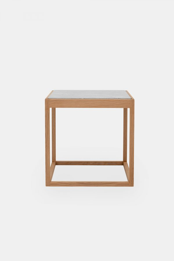 Cube side table in wood, designer Kurt Østervig