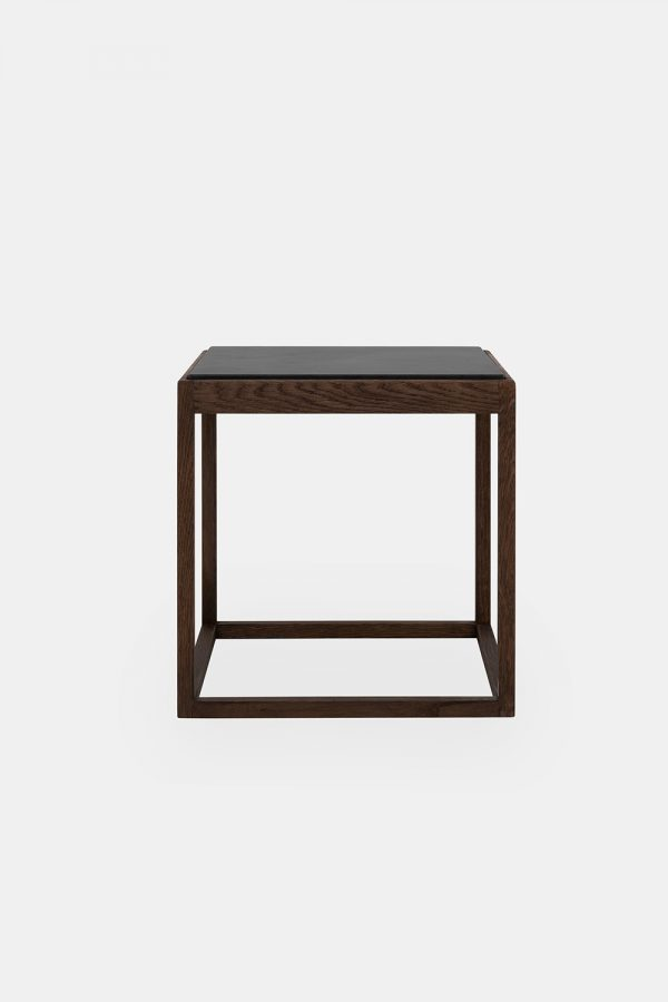 Cube side table by Kurt Østervig, grey marbel
