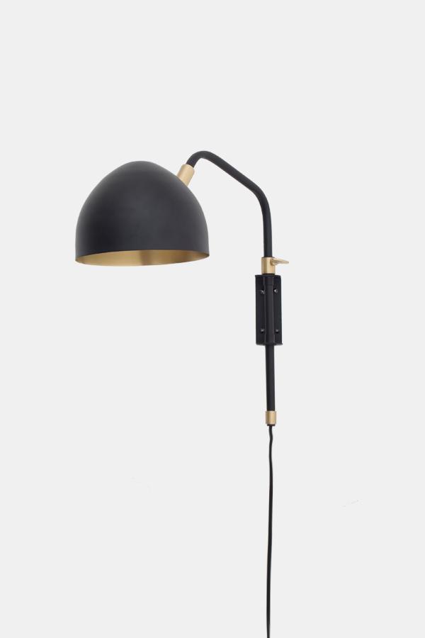 Wall Lamp in black brass