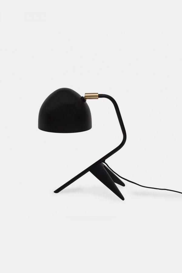 Tablelamp in black brass
