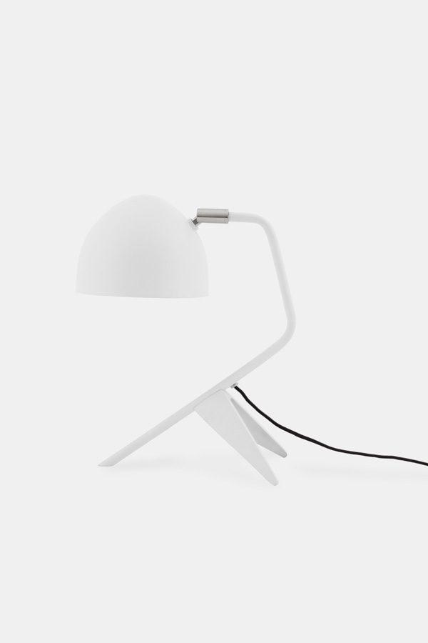 white table lamp, danish designer lamp