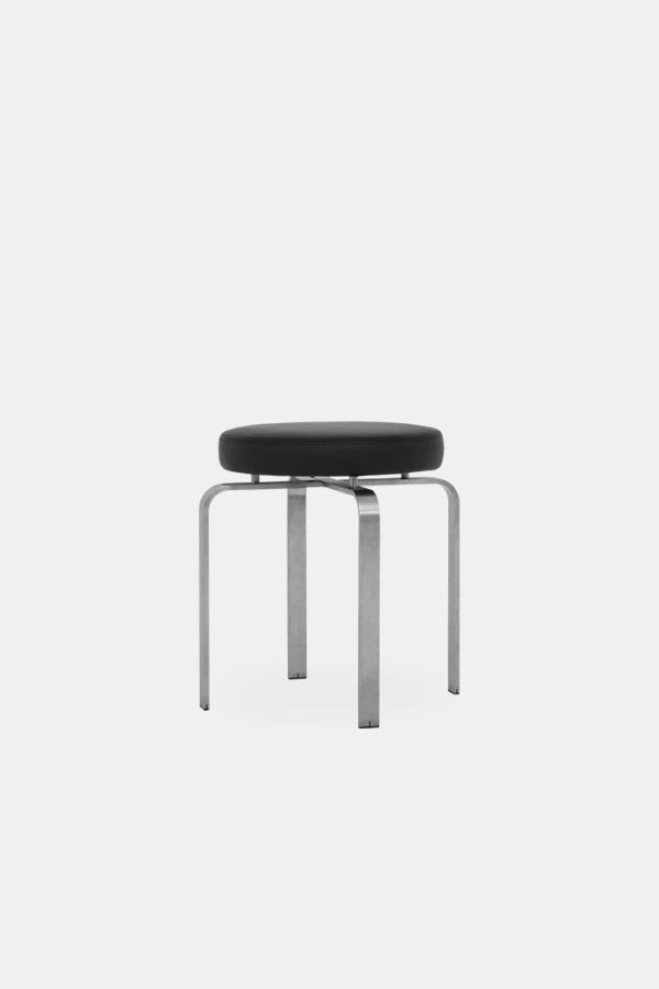 Jørgen Høj furniture, JH Stool with black seat