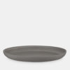 large stoneware dish in grey