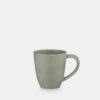 green stoneware mug